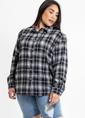 Royal Boyfriend Checkered Shirt - Curve