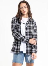 Royal Boyfriend Checkered Shirt - Womens