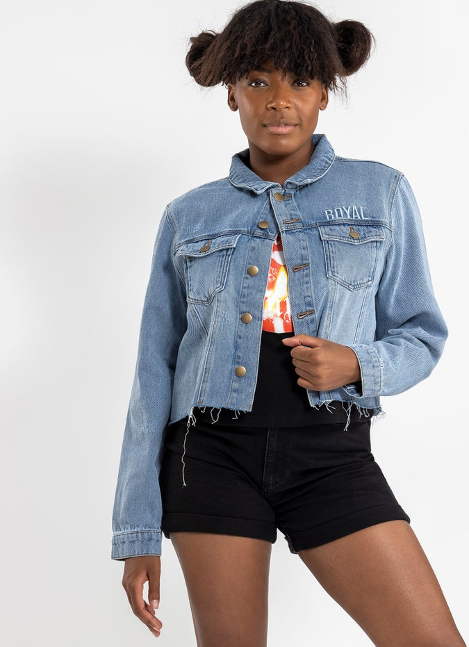 Royal Crop Denim Jacket
