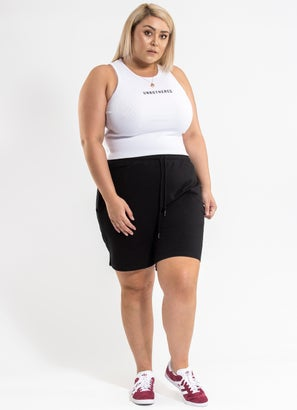 Royal Crop Rib Singlet - Plus & Curve