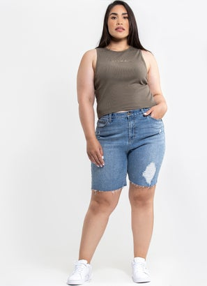 Royal Denim Shorts - Curve