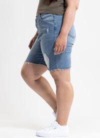 Royal Denim Shorts - Curve