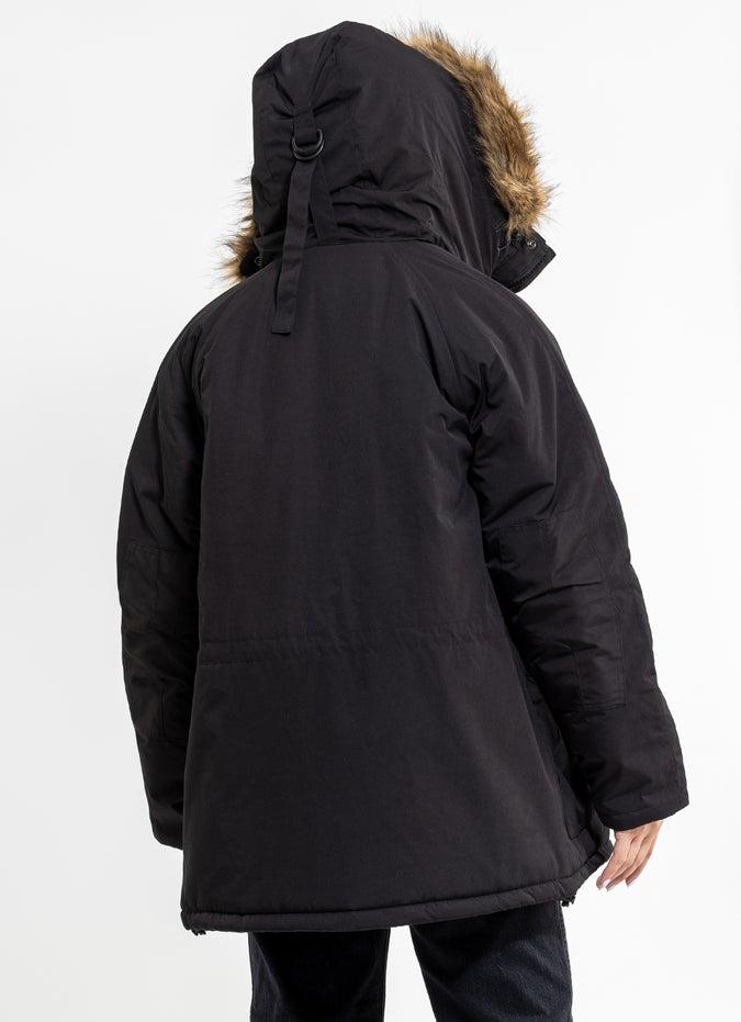 Royal Faux Fur Hooded Jacket