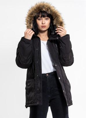 Royàl Faux Fur Hooded Jacket