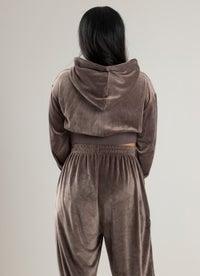 Royàl Lux Velour Zip Through Sweatshirt
