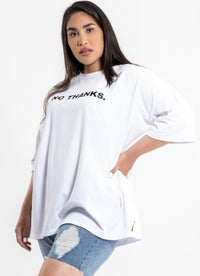 Royal No Thanks Oversized Tee - Plus & Curve