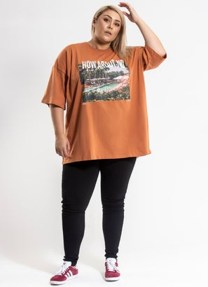 Royal Oversized Tee - Curve