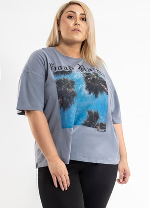 Royal Vintage Oversized Tee - Curve
