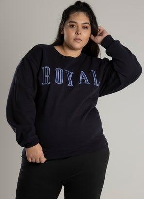 Royàl Alum Embroidered Crew - Plus & Curve