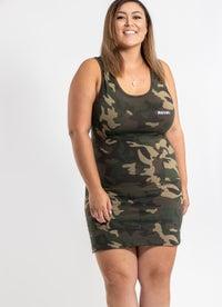 Royàl Camo Dress - Plus & Curve