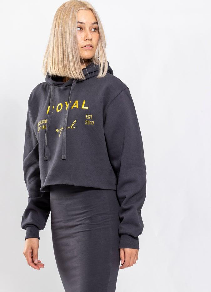 Royàl Essentials Cropped Hoodie - Womens
