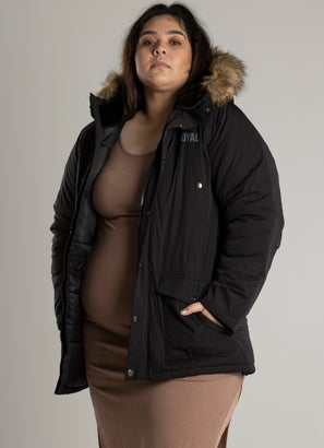 Royàl Faux Fur Hooded Jacket - Plus and Curve