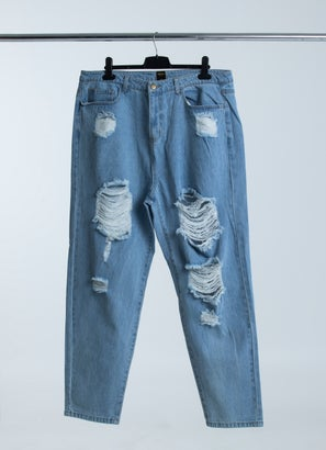 Royàl Mom Ripped Jeans - Plus & Curve