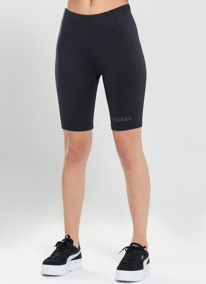 Royàl Ribbed Bike Shorts
