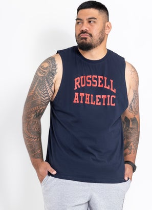 Russell Athletic Arch Logo Muscle Tee - Big & Tall