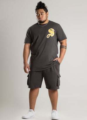 STMNT Chilled Knit Cargo Shorts - Big & Tall
