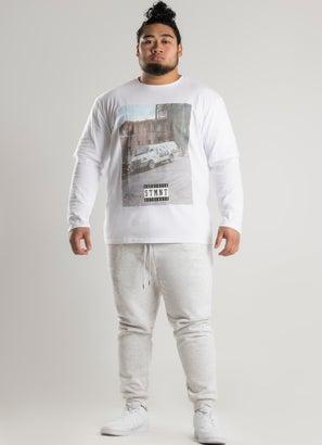 STMNT Cut & Sew Long Sleeve Tee - Big & Tall