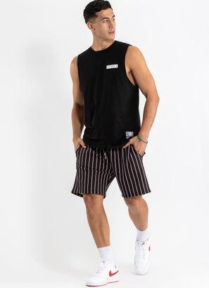 STMNT Striped Shorts