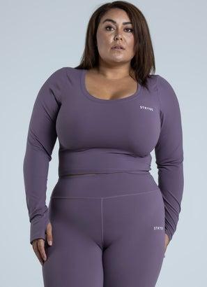 Stryde Branded Long Sleeve Tee - Plus & Curve