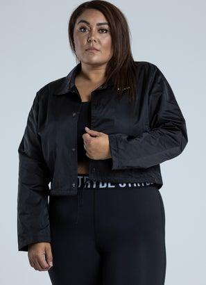 Stryde Cropped Coaches Jacket - Plus & Curve