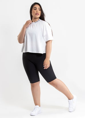 Stryde Cropped Flow Tee - Plus Size