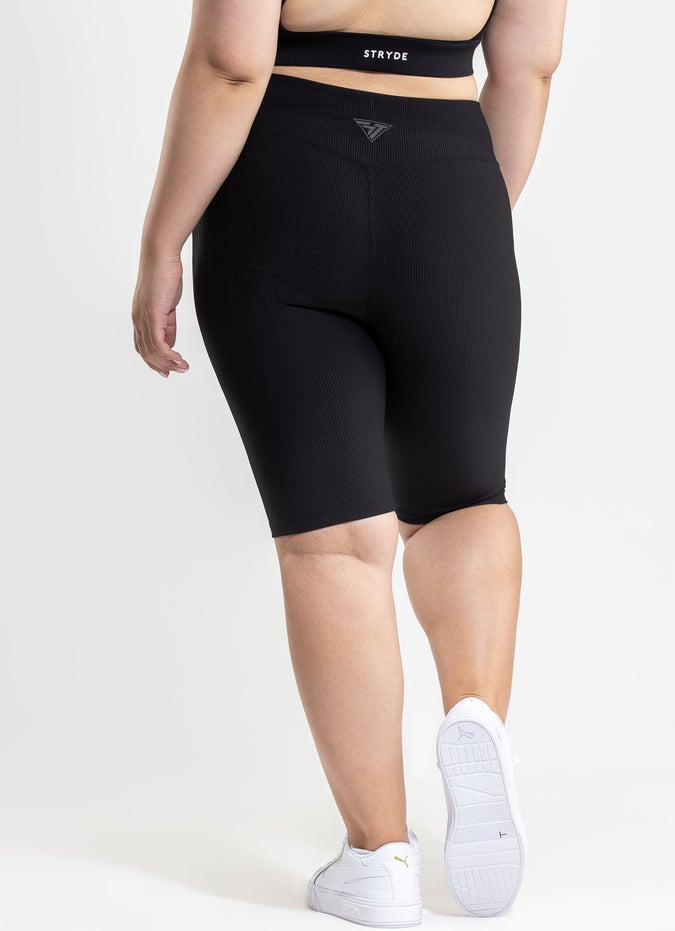 Stryde Ribbed Biker Shorts - Plus Size