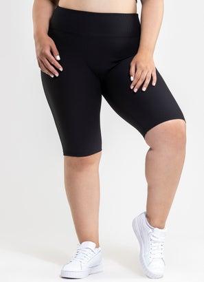 Stryde Ribbed Biker Shorts - Plus Size