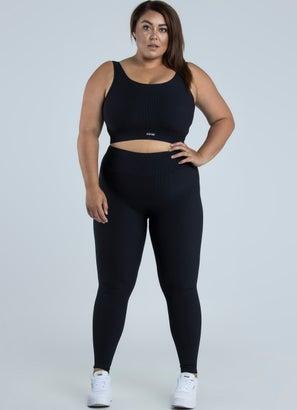 Stryde Ribbed Sports Bra - Plus & Curve