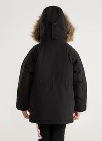 Sugar Girls Faux Fur Hooded Jacket
