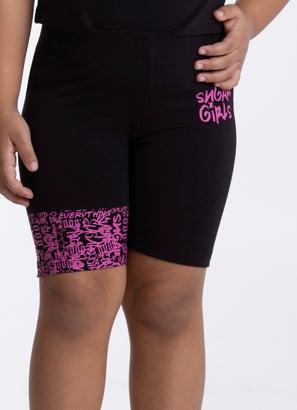 Sugar Girls Graf Biker Shorts