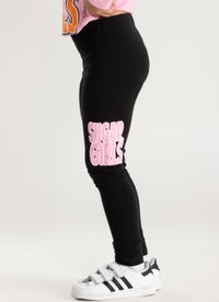 Sugar Girls Pink Print Leggings