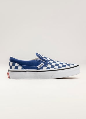Vans Checkerboard Classic Slip-On Shoes - Kids