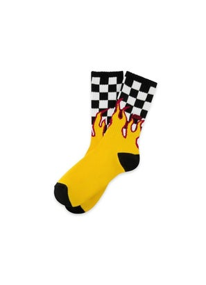 Vans Flame Check Crew Sock (1 Pack, Size 6.5-9)