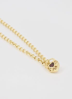 Vendetta Belcher Necklace Heart Locker 55cm