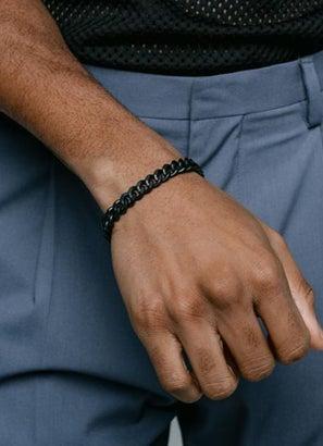Vitaly Kickback Matte Black Bracelet