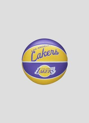 Wilson NBA Los Angeles Lakers Team Retro Mini Basketball