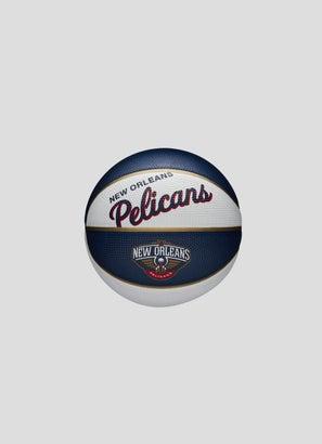 Wilson NBA New Orleans Pelicans Team Retro Mini Basketball