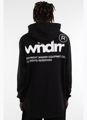 WNDRR Enigma Curved Hem Hoodie